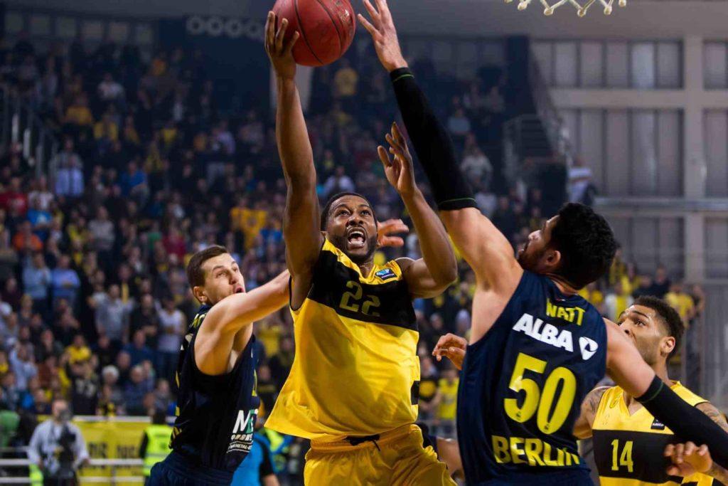 Basketball game between Aris and Alba Berlin