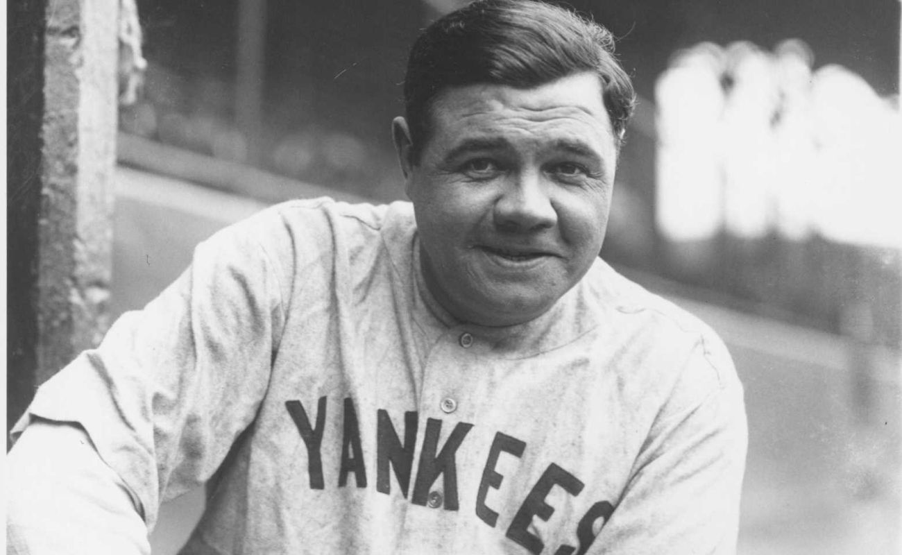 Babe Ruth portrait at League Park in 1927