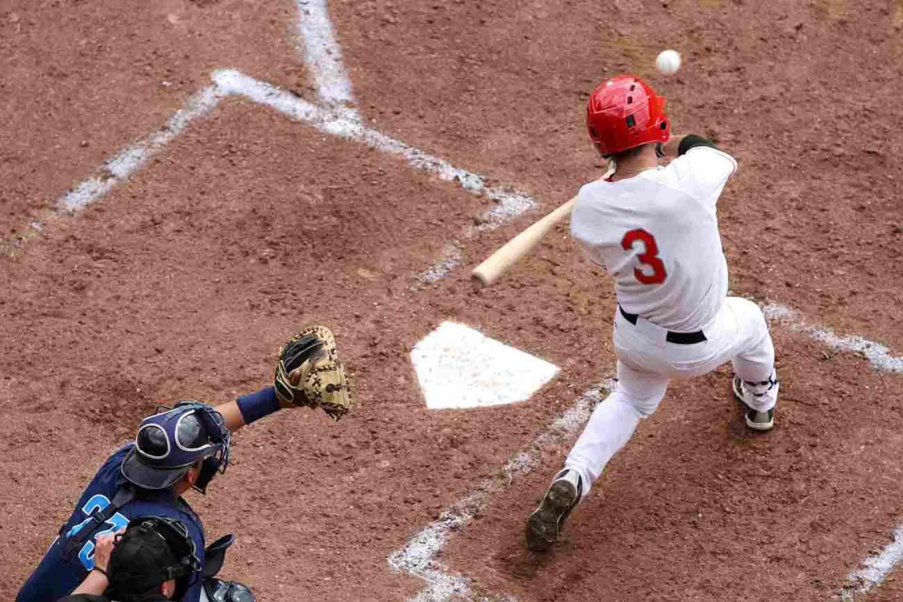 baseball batter taking a swing at the ball