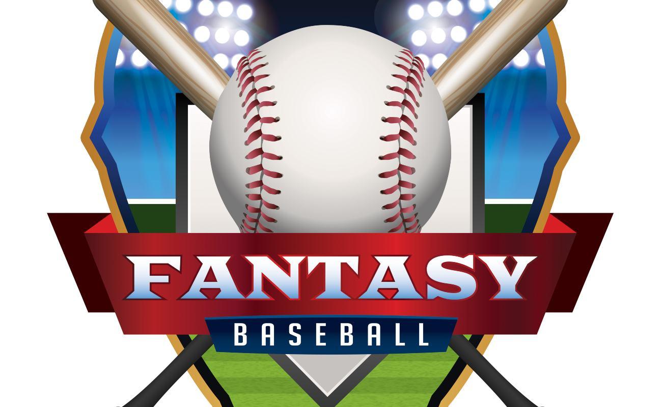 An emblem illustration for Fantasy Baseball.
