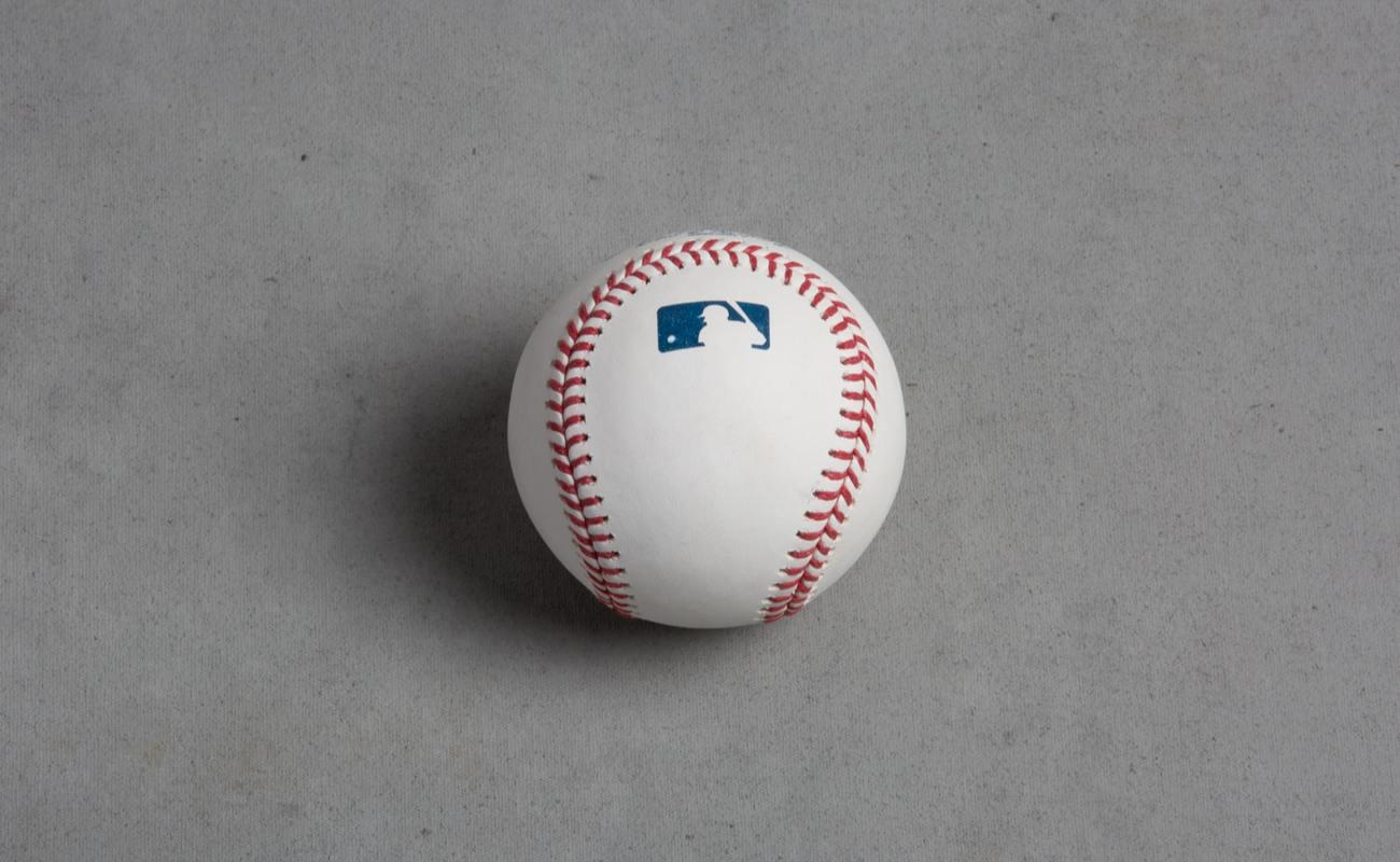 studio shot of MLB Baseball