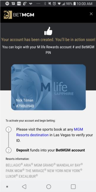 Mgm resorts sports betting app