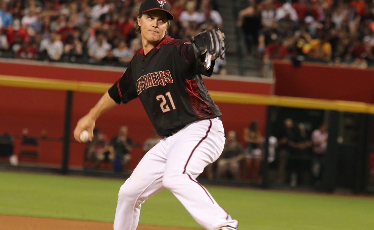 Zack Greinke, pitcher for the Arizona D-Backs