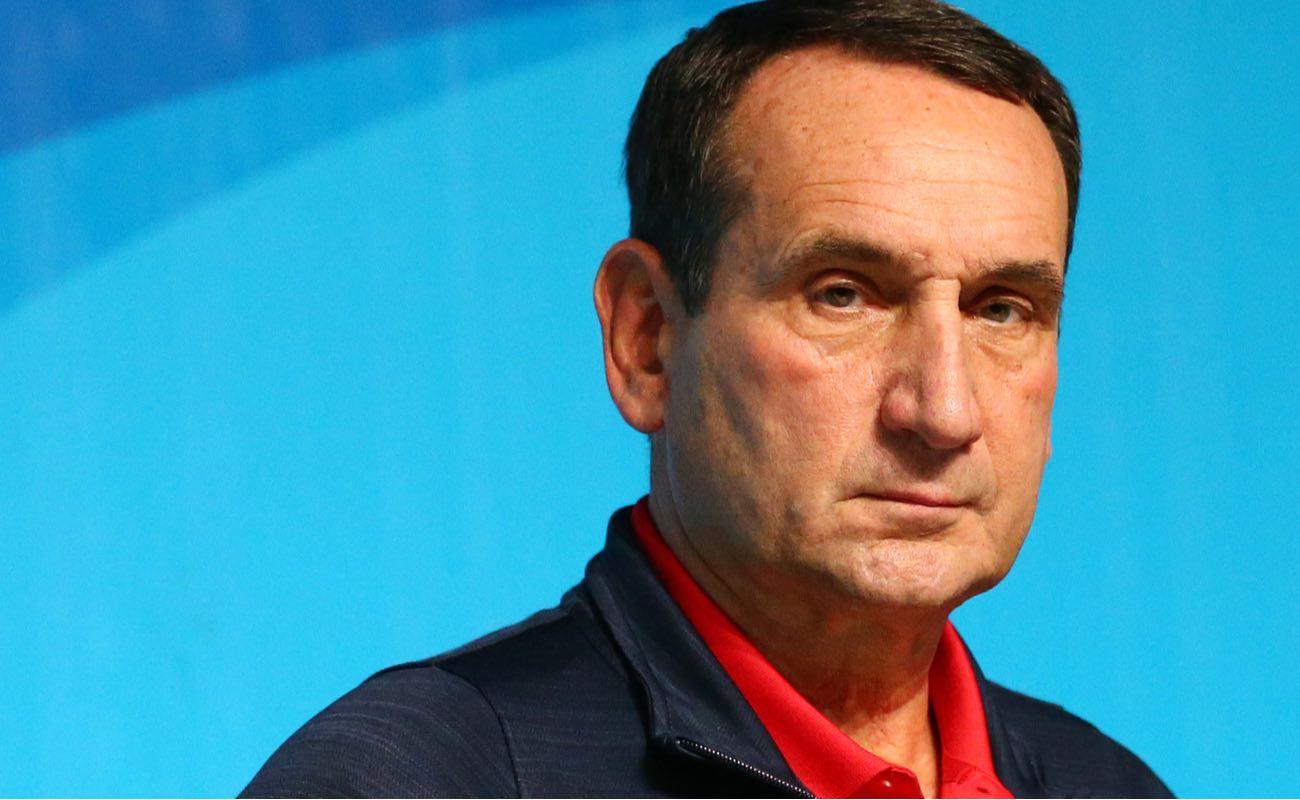 Team USA coach Mike Krzyzewski potrait at Rio 2016 Olympic Games