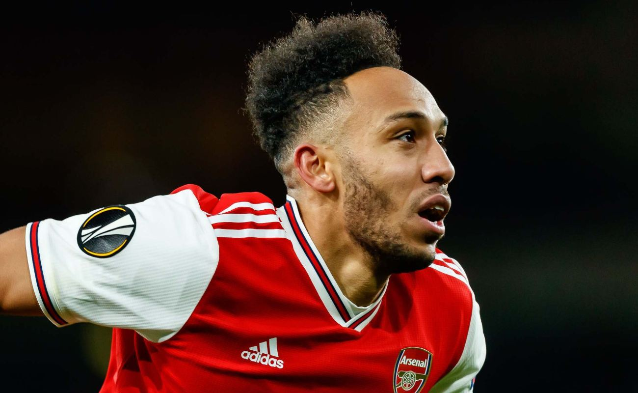 Pierre-Emerick Aubameyang of Arsenal FC looks on during UEFA Europa League