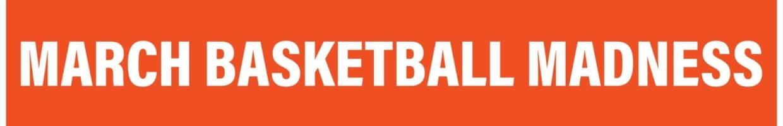 March madness basketball logo