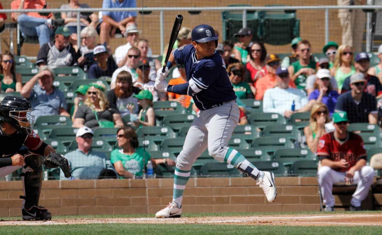 Christian Villanueva 1st baseman of the San Diego Padres playing at Salt River Fields