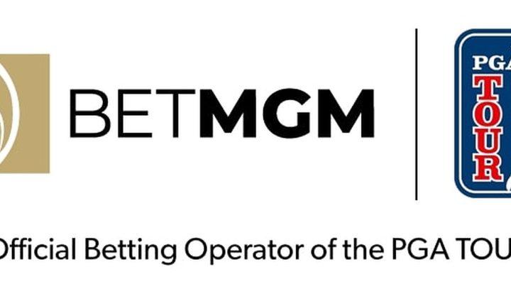 PGA Tour logo next to the BetMGM logo