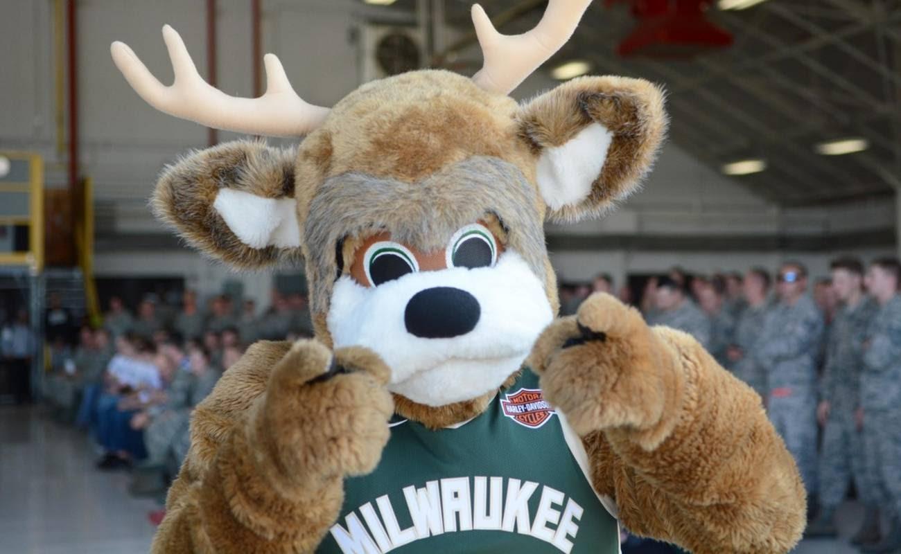 Milwaukee Bucks team mascot Bango the Buck