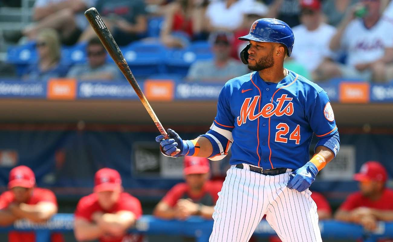 Robinson Cano #24 of the New York Mets in action against the St. Louis Cardinals during a spring training baseball game