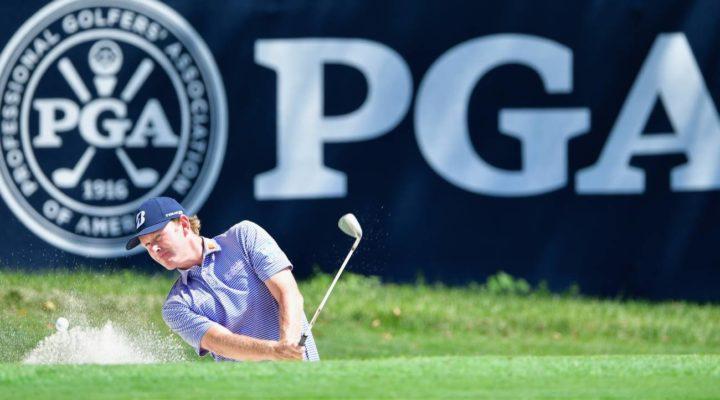 PGA Championship logo and flag