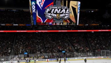 Digital sign for the Stanley Cup Fina