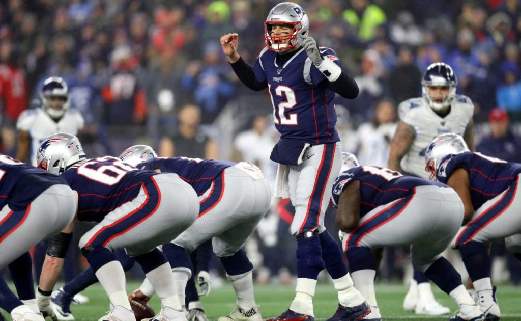 Tom Brady of New England Patriots during game against Tennessee Titans at Gillette Stadium