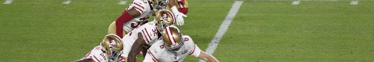 Mitch Wishnowsky of San Francisco 49ers kicks off against Kansas City Chiefs in Super Bowl LIV February 02, 2020