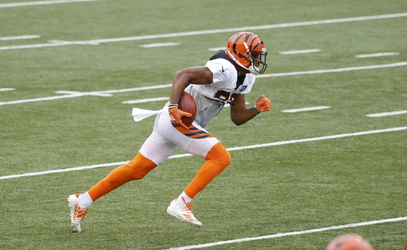 Tyler Boyd of Cincinnati Bengals in action during a scrimmage on August 30, 2020