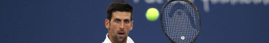 Novak Djokovic at USTA Billie Jean King National Tennis Center on August 29, 2020