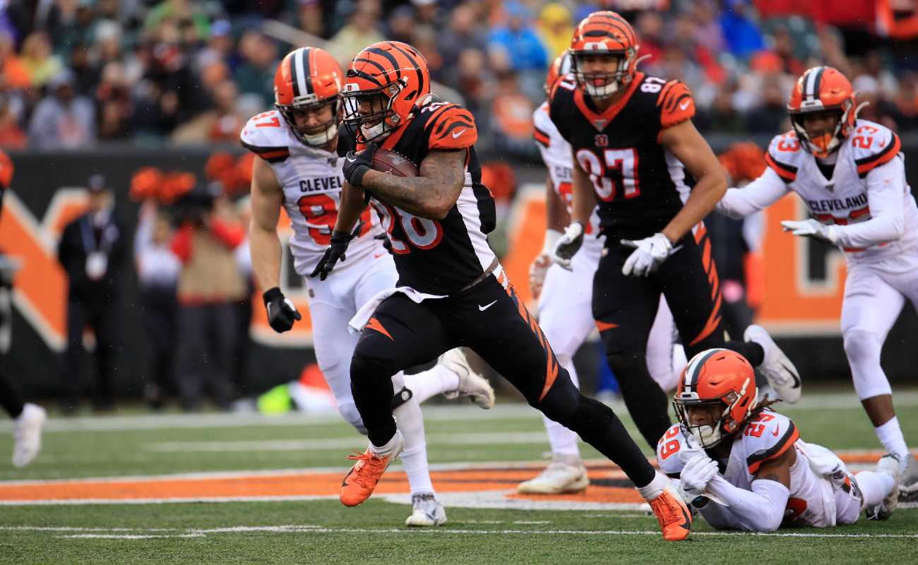 Cincinnati Bengals against the Cleveland Browns at Paul Brown Stadium on December 29, 2019
