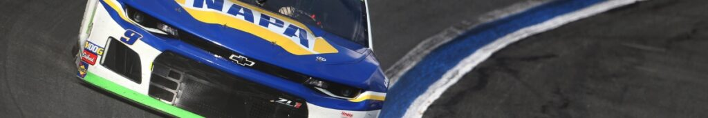 Chase Elliott, driver of the #9 NAPA Auto Parts Chevrolet, races at Charlotte Motor Speedway September 2019