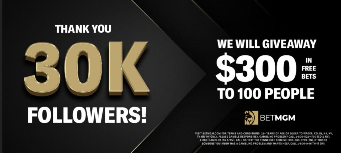 30K followers giveaway offer banner giving $300 in bonus site to 100 people