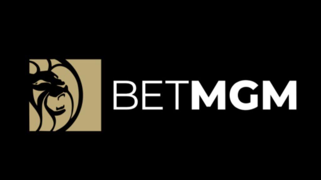 BetMGM logo on a black background