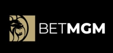 BetMGM logo on a black background