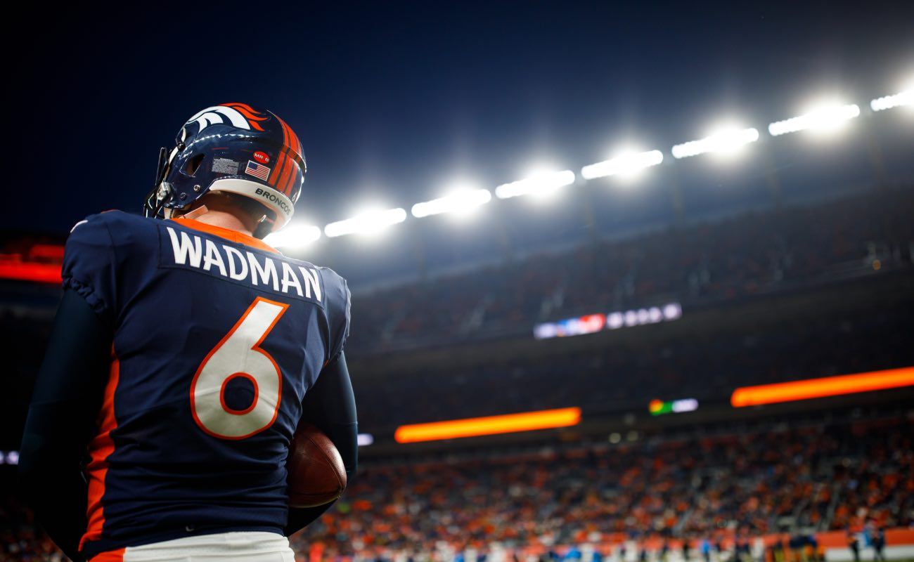 Punter Colby Wadman #6 of  Denver Broncos at Empower Field at Mile High December, 2019. Photo by Justin Edmonds/Getty Images