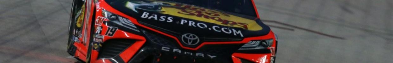 Martin Truex Jr., driver of the #19 Bass Pro Shops Toyota at Texas Motor Speedway October 2020.
