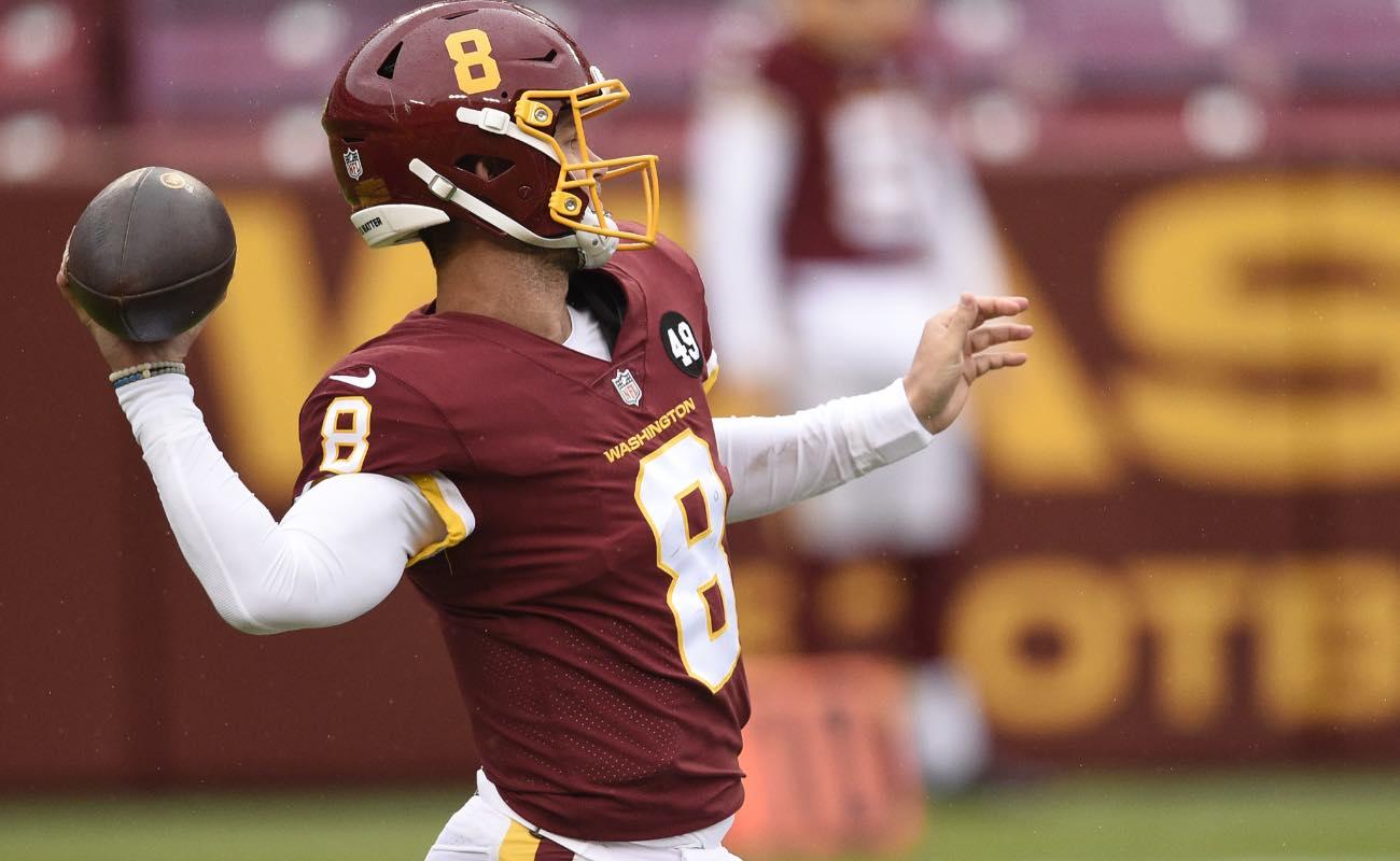 Kyle Allen of Washington Football Team against the Dallas Cowboys at FedExField October 2020.