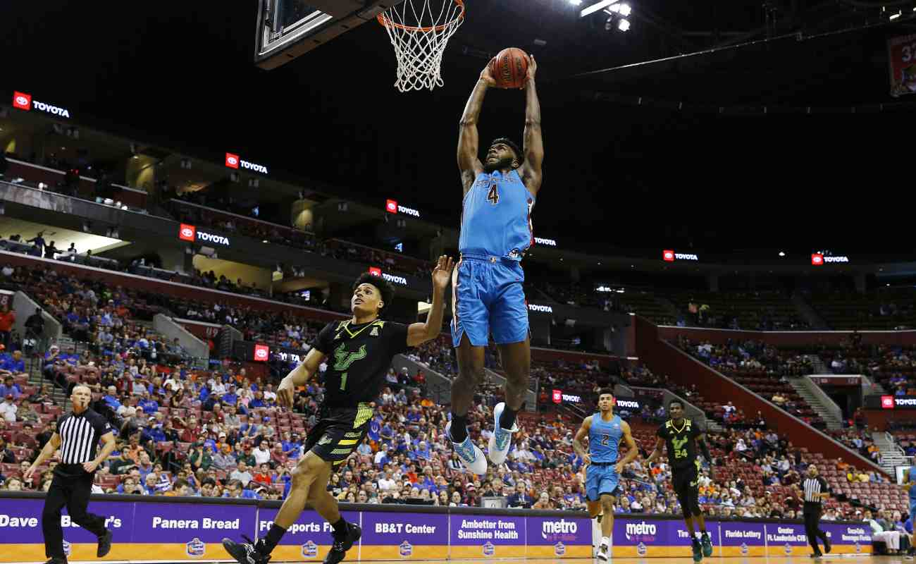 Patrick Williams dunks against the South Florida Bulls. Michael Reaves/Getty Images