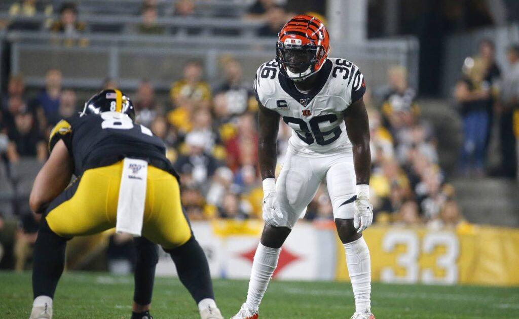Shawn Williams of Cincinnati Bengals against the Pittsburgh Steelers at Heinz Field September 2019.