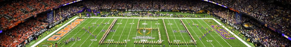 The LSU Tigers band performs prior to the College Football Playoff National Championship held at the Mercedes-Benz Superdome on January 13, 2020 in New Orleans, Louisiana.