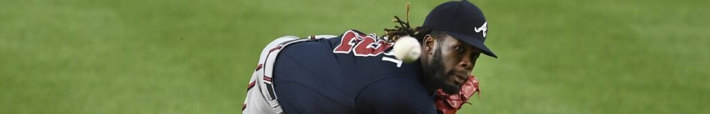 Touki Toussaint of the Atlanta Braves, throws a pitch. Photo by Sarah Stier/Getty Images
