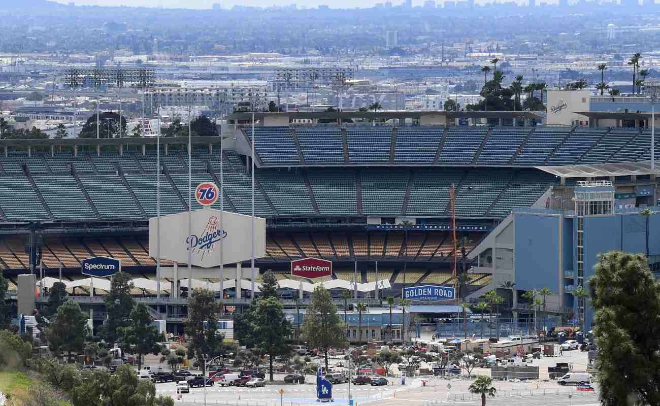 Exterior of Dodger Stadium. Photo by Harry How/Getty Images