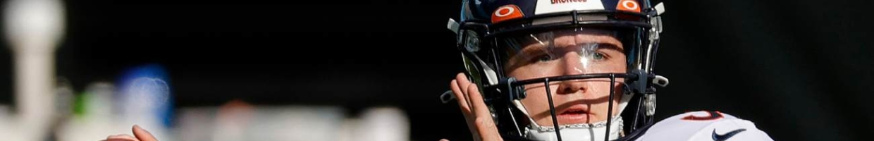 CHARLOTTE, NORTH CAROLINA - DECEMBER 13: Drew Lock #3 of the Denver Broncos warms up prior to their game against the Carolina Panthers at Bank of America Stadium on December 13, 2020 in Charlotte, North Carolina. (Photo by Jared C. Tilton/Getty Images)
