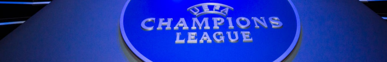 Champions League Logo on a Blue Background - Photo by Eurasia Sport Images