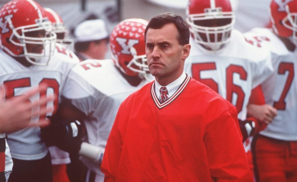 18 DEC 1993: HEAD COACH JIM TRESSEL OF YOUNGSTOWN STATE STANDS BY HIS PLAYERS DURING A 17-5 VICTORY OVER MARSHALL UNIVERSITY IN THE NCAA I-AA FOOTBALL CHAMPIONSHIPS. Mandatory Credit: Doug Pensinger/ALLSPORT