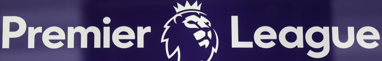 The Premier League Sign and Logo on a Blue Background - Photo By ISABEL INFANTES/Getty Images