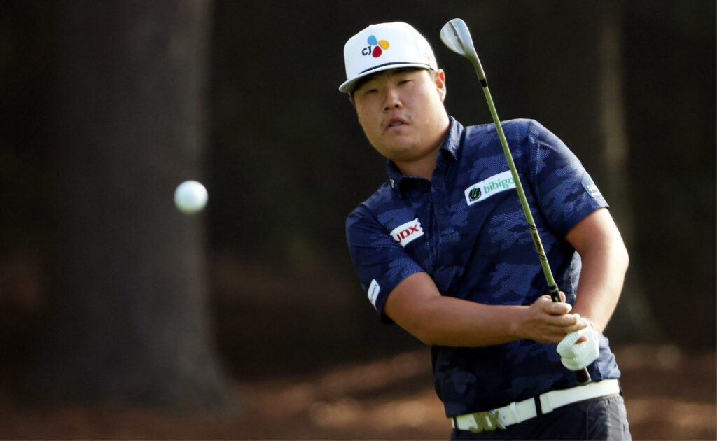 Sungjae Im of Korea during the final round of the Masters at Augusta National Golf Club in Georgia, November 2020. (Photo by Jamie Squire/Getty Images)