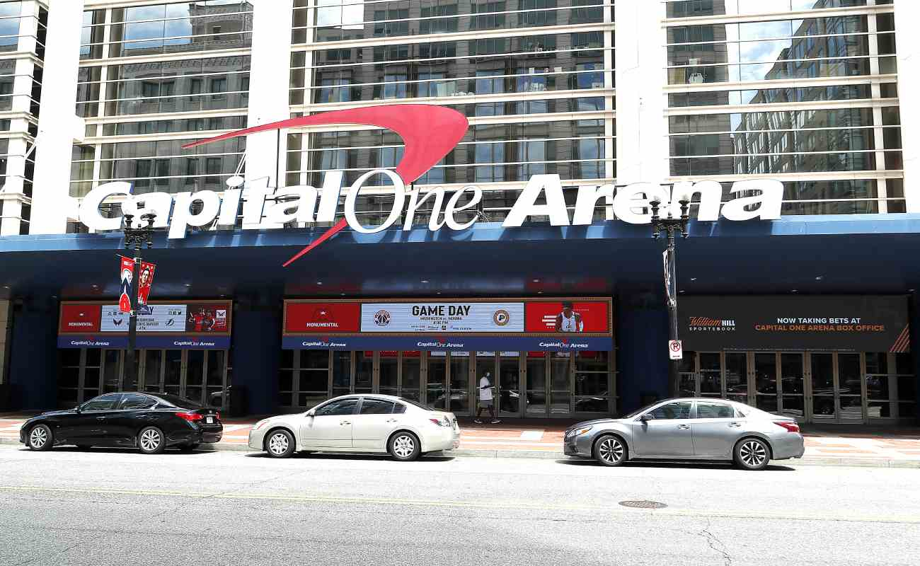 The entrance to the Capital One Arena, Washington, D.C. Photo by Paul Morigi/Getty Images for William Hill US.