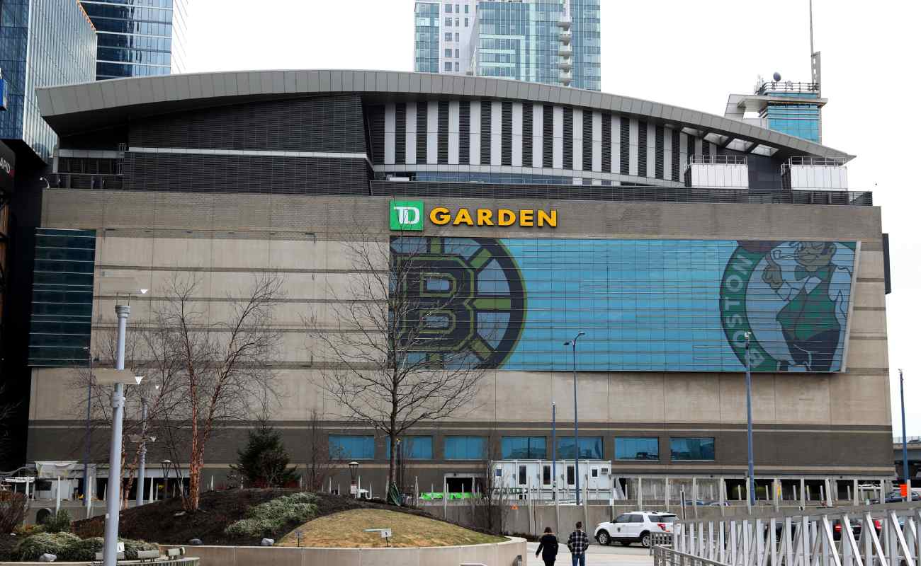 An outside view of the TD Garden arena, Boston. Photo by Maddie Meyer/Getty Images.