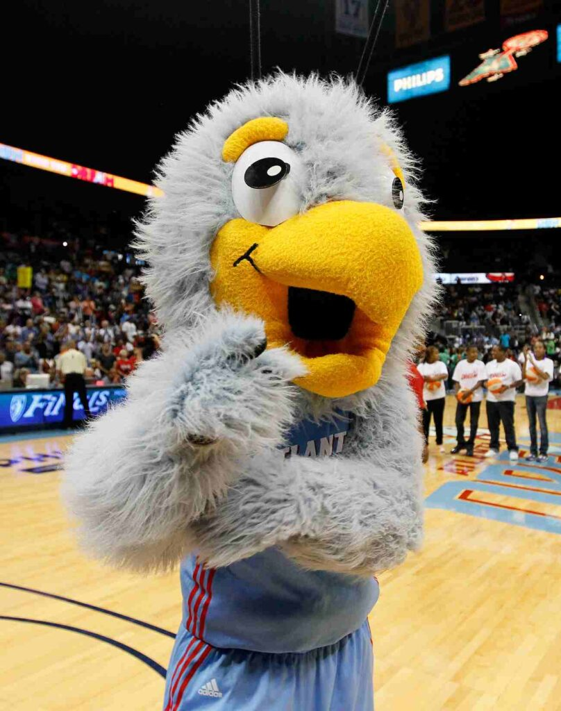 ATLANTA, GA - OCTOBER 07: Star, mascot of the Atlanta Dream, against the Minnesota Lynx in Game Three of the 2011 WNBA Finals at Philips Arena on October 7, 2011 in Atlanta, Georgia. NOTE TO USER: User expressly acknowledges and agrees that, by downloading and or using this Photograph, user is consenting to the terms and conditions of the Getty Images License Agreement. (Photo by Kevin C. Cox/Getty Images)
