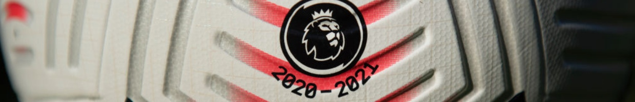 The English Premier League Logo Printed on a Match Ball With 2020 - 2021 Beneath it - Photo Credit: Visionhaus via Getty Images