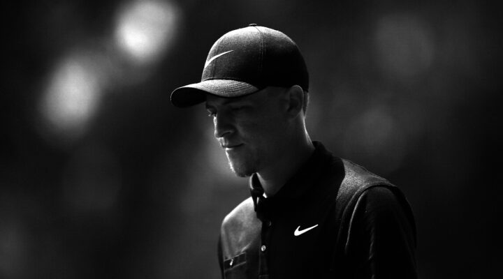 Cameron Champ walks off the 14th green during the first round of the Wyndham Championship at Sedgefield Country Club on August 01, 2019 in Greensboro, North Carolina. (Photo by Jared C. Tilton/Getty Images)