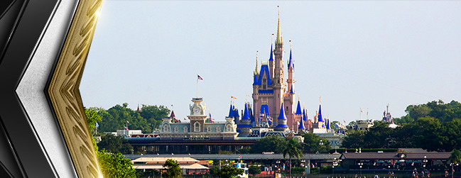 Landscape picture of the Walt Disney World in Bay Lake, Florida