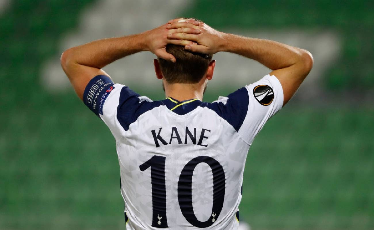 Harry Kane with Number 10 on the Back of His Shirt, Holds His Hands on His Head - Photo by Srdjan Stevanovic/Getty Images