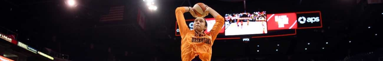 PHOENIX, AZ - JULY 19: Western Conference All-Star Brittney Griner #42 of the Phoenix Mercury slam dunks during warm ups to the WNBA All-Star Game at US Airways Center on July 19, 2014 in Phoenix, Arizona. The East defeated the West 125-124 in overtime. (Photo by Christian Petersen/Getty Images)