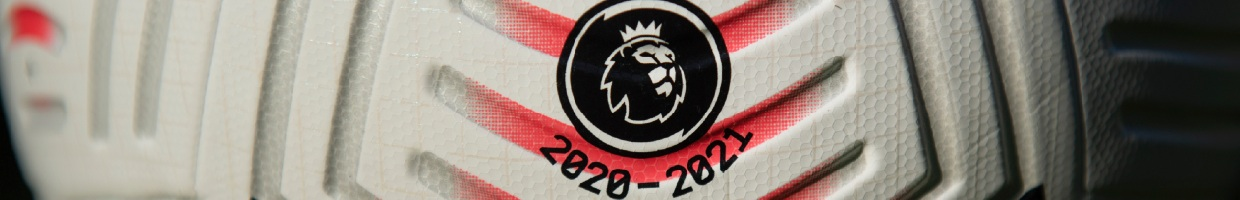 The EPL logo and 2020-2021 date on a matchday ball - Photo by Visionhaus/Getty Images