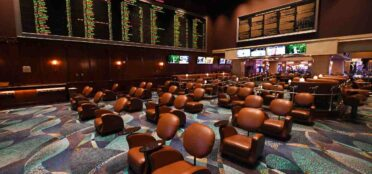 LAS VEGAS, NEVADA - JUNE 01: Chairs are spaced out for social distancing at the BetMGM Sports Book at Bellagio Resort & Casino as the Las Vegas Strip property, which has been closed since March 17 in response to the coronavirus pandemic, prepares to reopen on June 1, 2020 in Las Vegas, Nevada. Hotel-casinos throughout the state will be able to reopen on June 4 as part of a phased reopening of the economy with social distancing guidelines and other restrictions in place. MGM Resorts International plans to reopen Bellagio, New York-New York Hotel & Casino, MGM Grand Hotel & Casino and The Signature on Thursday. (Photo by Ethan Miller/Getty Images)