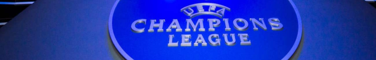 The Champions League Logo on a blue background - Photo by Visionhaus/Getty Images