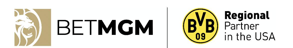 BetMGM logo next to the Borussia Dortmund logo
